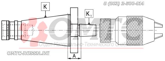 Оправка для сверлильных патронов с конусом Jacobsa 5370 (Bison-Bial) Чертеж