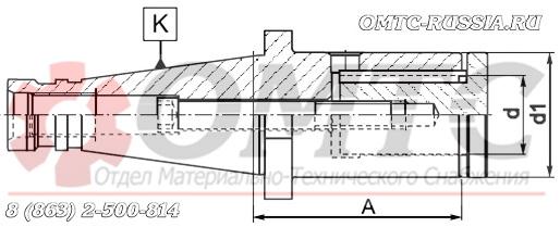 Оправка 7314 BISON-BIAL для дисковых фрез Чертеж