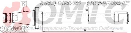 Патрон фрезерные длинные 7175 BISON-BIAL чертеж