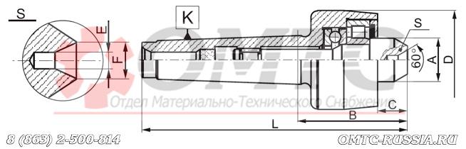 Центр вращающийся 8809 BISON-BIAL Чертеж