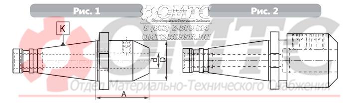 Зажимная оправка 7620qc BISON-BIAL Чертеж