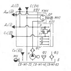 Гидравлическая схема СВ-М1-25-40-63