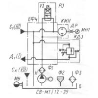 Гидравлическая схема СВ-М1-12-25