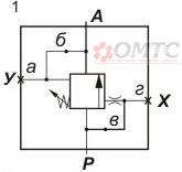 Гидроклапан Г54 схема работы № 1