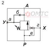 Гидроклапан Г54 схема работы № 2