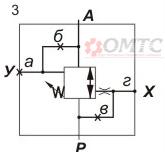 Гидроклапан Г54 схема работы № 3