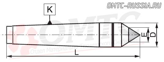 Центр упорный фрезеный 8711 Bison-bial Чертеж