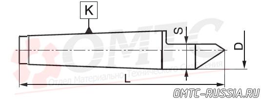 Центр упорный фрезеный 8730 Bison-bial Чертеж