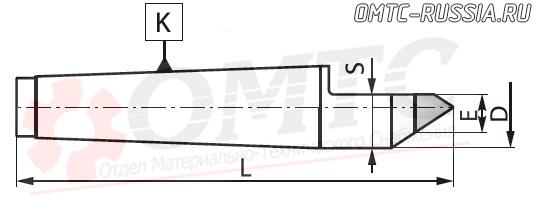 Центр упорный фрезеный 8731 Bison-bial Чертеж