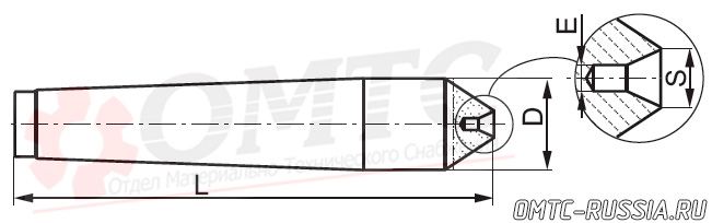 Центр упорный фрезеный 8735 Bison-bial Чертеж