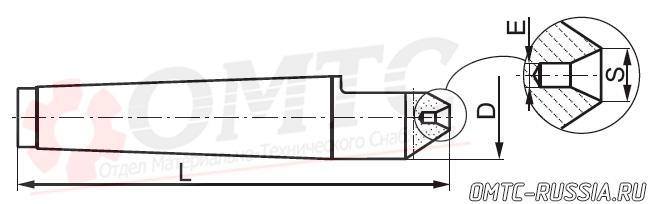 Центр упорный фрезеный 8740 Bison-bial Чертеж